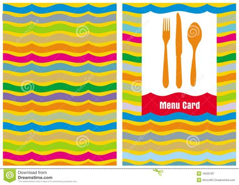 whimsical menu place card template menu card template stock vector illustration of