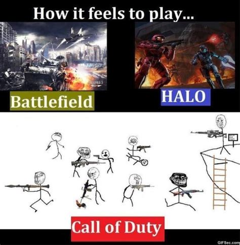 Memes Call Of Duty - battlefield vs halo vs call of duty meme 2015 meme