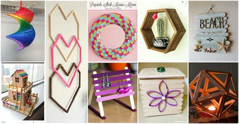 how to make home decorations 13 diy popsicle sticks home decor ideas