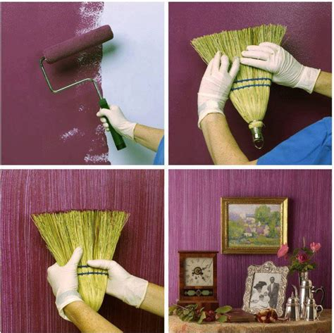 creative diy textured walls using a whisk broom stylish eve
