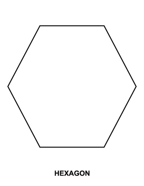 hexagon coloring page download free hexagon coloring