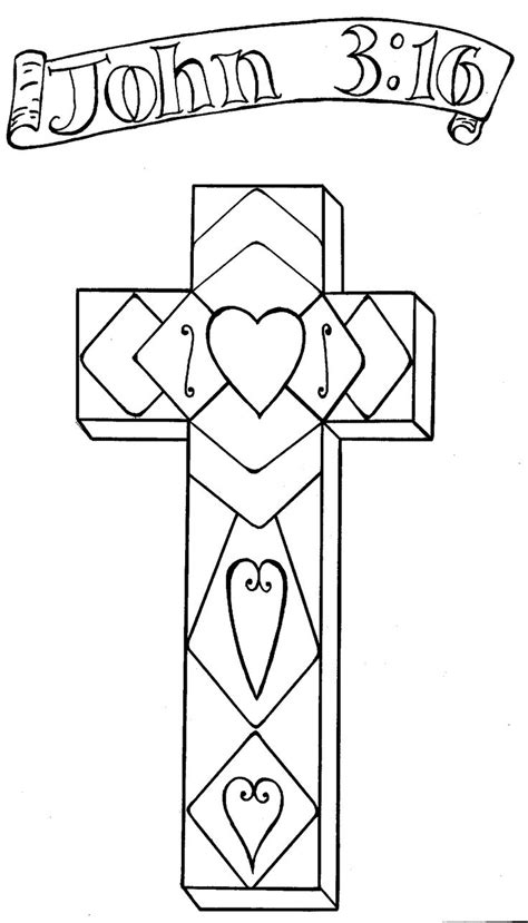 cross john 3 16 coloring pages bible pictures