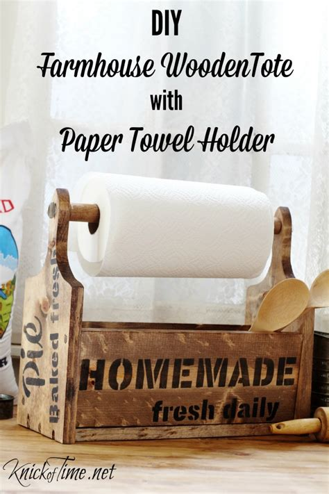 How To Make A Wooden Paper Towel Holder - build a wooden tote with built in paper towel holder