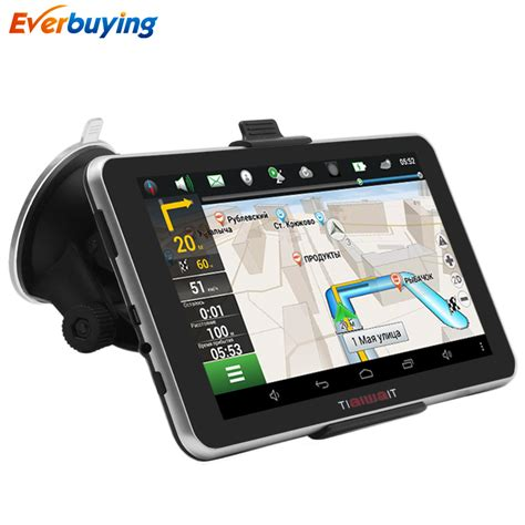 tiaiwait car gps navigation android 7 inch 16gb bluetooth mt8127 navigator russia - How To Use Gps On Android