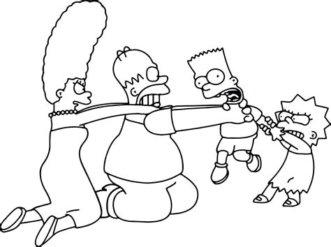 coloring pages of the simpsons christmas simpson coloring page thekindproject