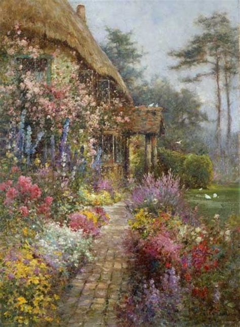 Cottage Garden Paintings by An Cottage Garden