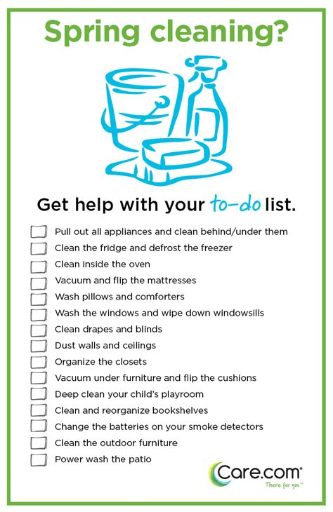 spring cleaning checklist 7 tips for owning your spring clean care com