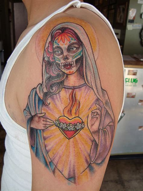 muertos tattoo designs on shoulder