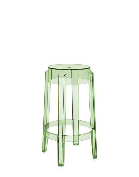 sgabello trasparente sgabello kartell charles ghost verde trasparente h 65 cm