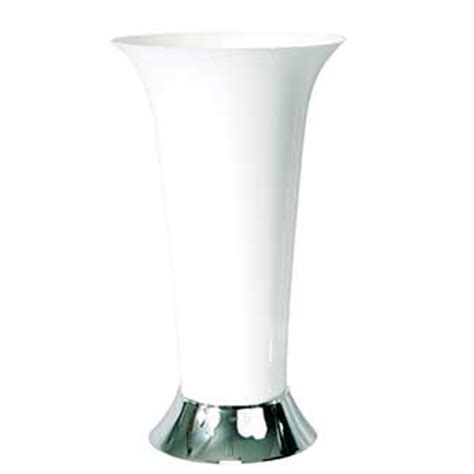Plastic Trumpet Vases by 12 Quot Trumpet Vase White Silver Floral Supply Syndicate