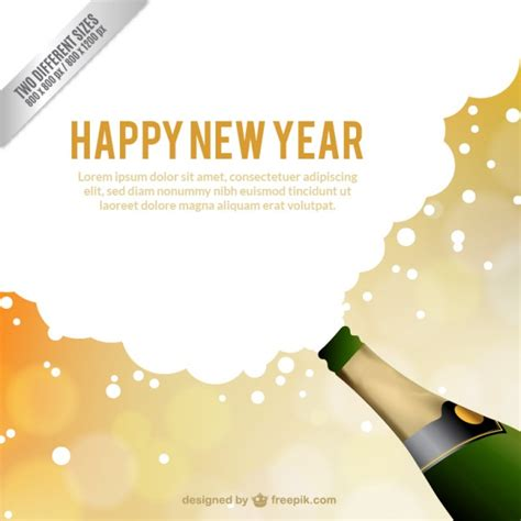 new year card template vector free