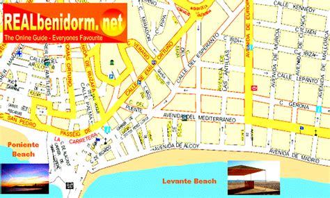 Printable Street Map Benidorm | benidorm hotel map
