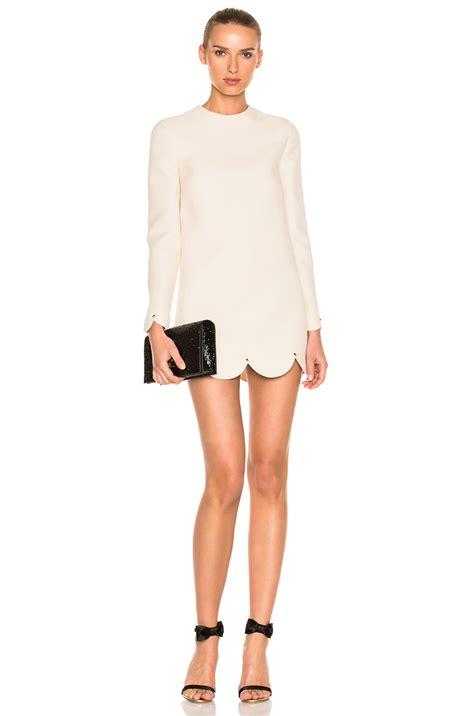 Scallop Hem Mini Dress valentino scallop hem mini dress ivory modesens