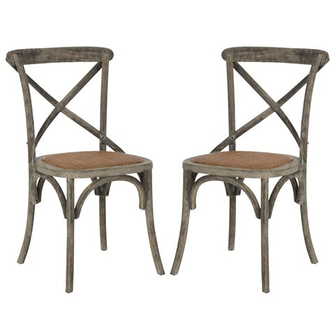 X Back safavieh american home franklin x back side chairs home