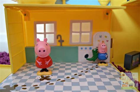 peppa pig play house peppa pig muddy puddles deluxe playhouse kitchen boo roo and tigger too