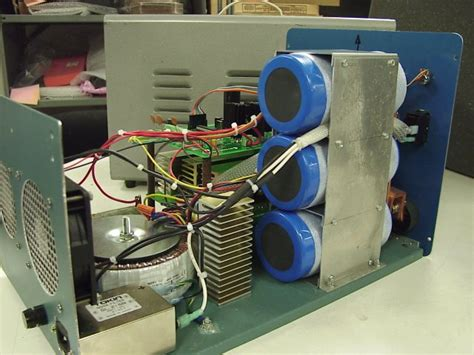 capacitor discharge spot welder constructed from a 3 farad capacitor a variable