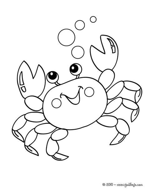 cute crab coloring pages free outline of a crab coloring pages