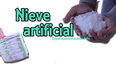 experimentos faciles c 243 mo hacer nieve artificial nieve casera nieve
