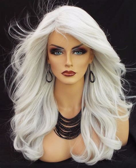 488 best images about wigs for over 60 year olds on pinterest long wavy heat friendly wig color 60 white gorgeous sexy