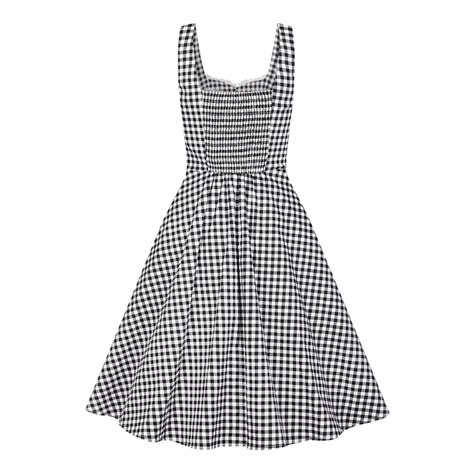 gingham swing dress collectif mainline chloe gingham swing dress collectif