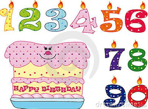 candele per compleanno particolari candele e torta per il compleanno immagini stock