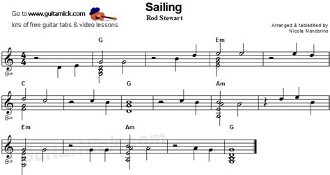 SAILING Flatpicking Guitar Tab: GuitarNick.com