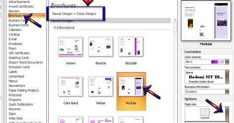 membuat brosur mudah antelu cara membuat brosur atau brochures di microsoft