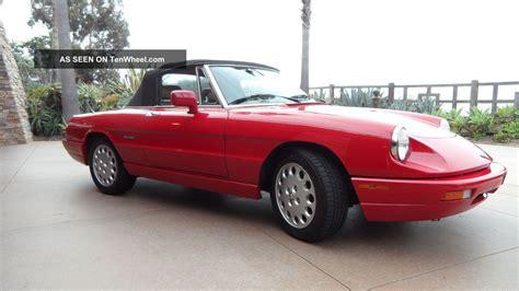 1991 Alfa Romeo Spider by 1991 Alfa Romeo Spider Veloce Convertable California Car