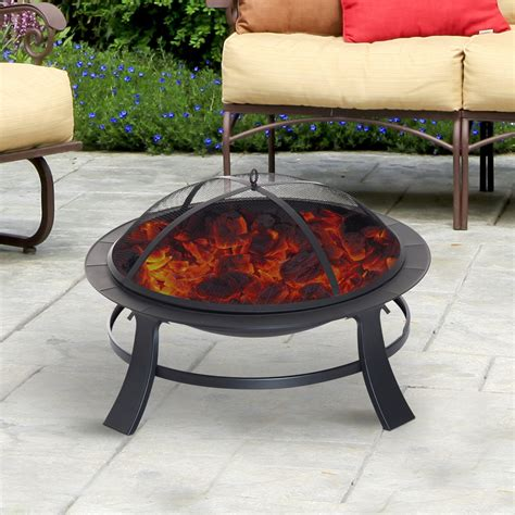 portable patio fireplace outsunny 30 quot firepit backyard portable fireplace