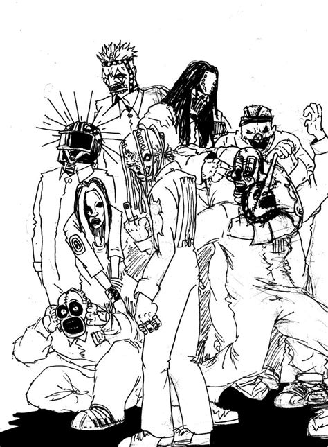 slipknot corey coloring pages coloring pages