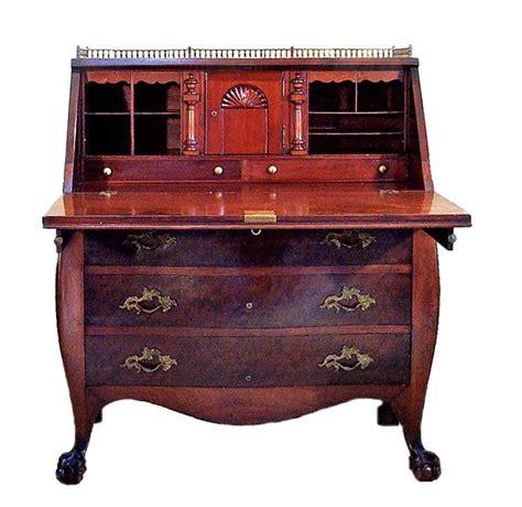Mahogany Bomb E Desk Bombe Desk