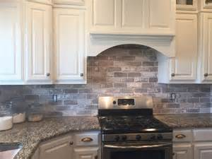 brick tile backsplash kitchen 17 best images about kitchens on countertops