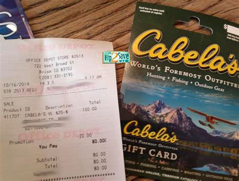 Cabela S Gift Cards At Kroger - office depot hot 100 sears gift card or 100 cabela s gift card only 80