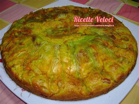 torta fiori di zucca torta salata con fiori di zucca e prosciutto cotto