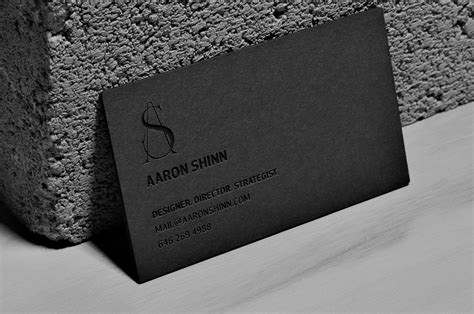 Interior Design Business no ink laser etched business cards aaron shinn