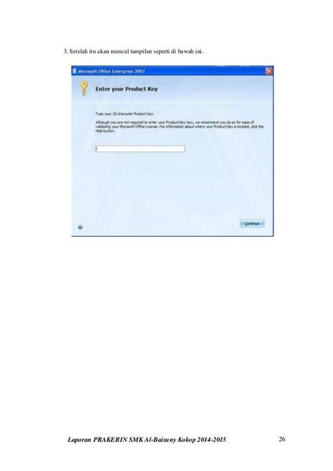 Kerja Praktis Dengan Aplikasi Office Di Tablet laporan praktek kerja industri prakerin smk al baisuny 2014 2015 m