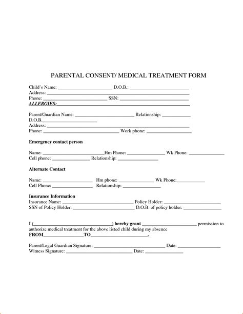 3 consent for treatment form printable receipt