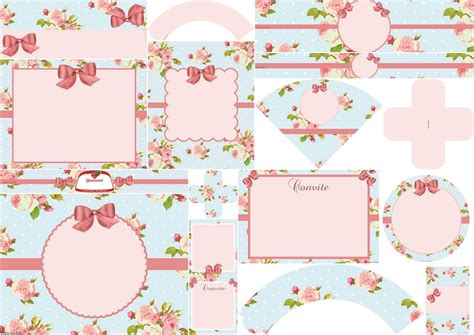 shabby chic in pink and light blue free printable kit oh my fiesta for ladies