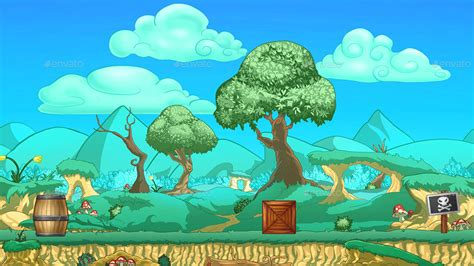 platformer nature game background  tile sets