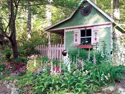 cottage garden sheds potted plants   seasons