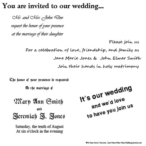 how to write wedding invitation mail tips on best fonts for wedding invitations