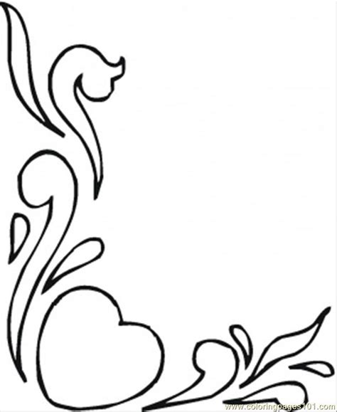 coloring pages hearts and flowers other gt pattern free