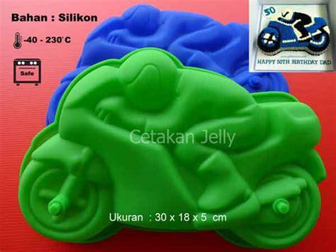 Cetakan Slikon Kue Puding Big Dino cetakan silikon puding kue motor bike cetakan jelly cetakan jelly