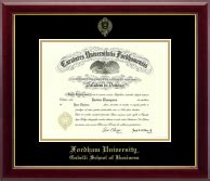 Fordham Accelerated Mba by Fordham Gold Embossed Diploma Frame In Gallery