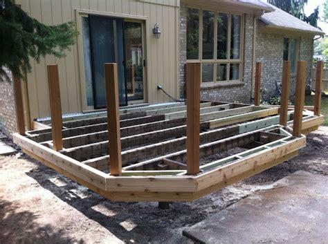 design decking frame re cover deck framing project autumnwoodconstruction s blog