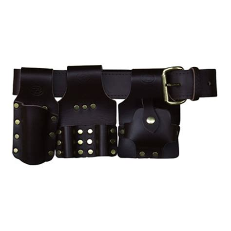 deluxe scaffold tool belt set brown leather connell of
