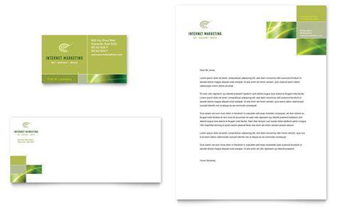 internet marketing business card letterhead template design