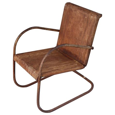 style deck chairs antique industrial style classic metal patio chair at 1stdibs