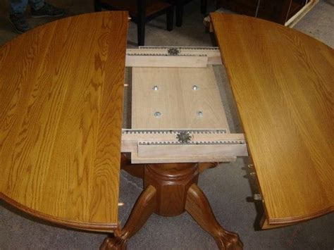 Solid Wood Kitchen Table With Leaf Custom New Solid Oak Wood 48 Quot Kitchen Living Room