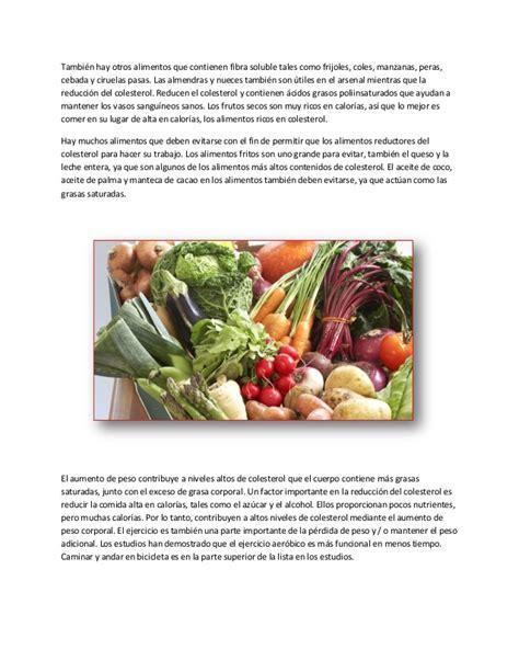 alimentos buenos para el colesterol alimentos para bajar el colesterol